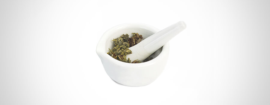 Pestle, Mortar And Cannabis