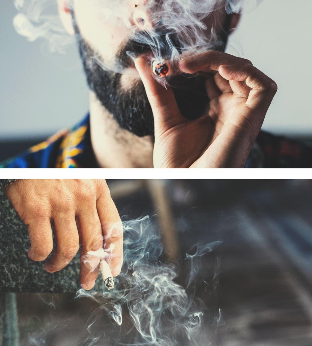 Fumo di marijuana vs fumo di tabacco