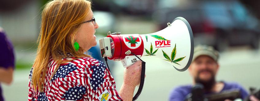 cannabis dimostrazione stati USA legalizzato Trump